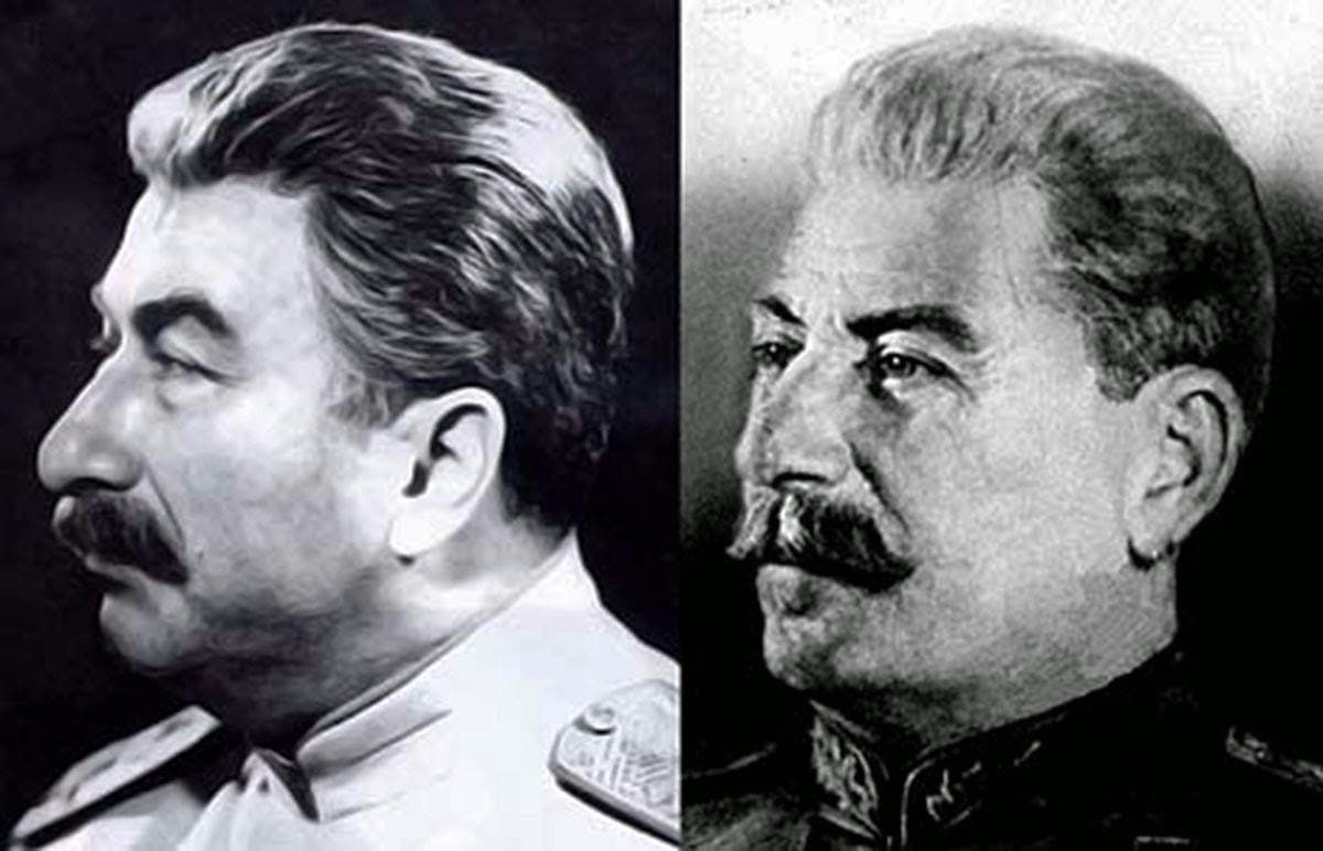 جوزيف ستالين (على اليمين) وفيليكس داداييف