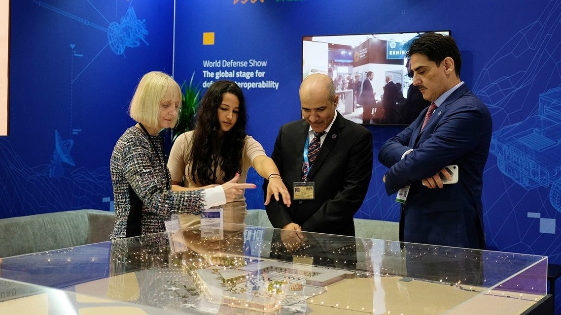 A model of the World Defense Show to be held in Saudi Arabia next year. (Supplied)
