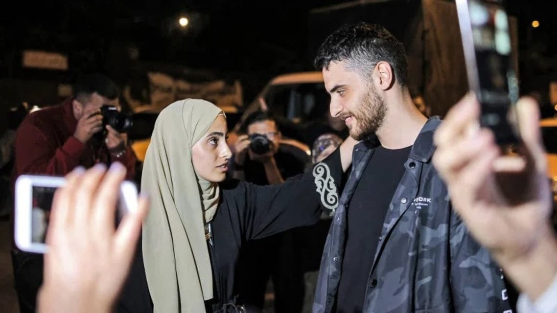 Prominent Palestinian activists and twins Muna and Mohammed El-Kurd. (File photo: AFP)
