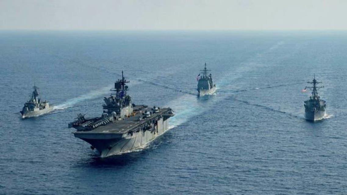 قطع بحرية أميركية وأسترالية في بحر الصين الجنوبي