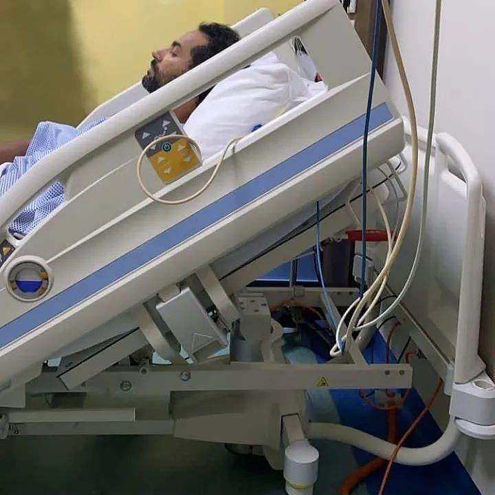 كريم فهمي في المستشفى