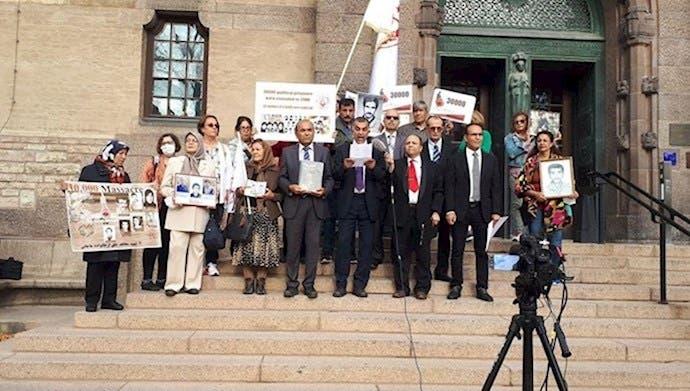 شاکیان و شاهدان پرونده نوری مقابل دادگاه استکهلم