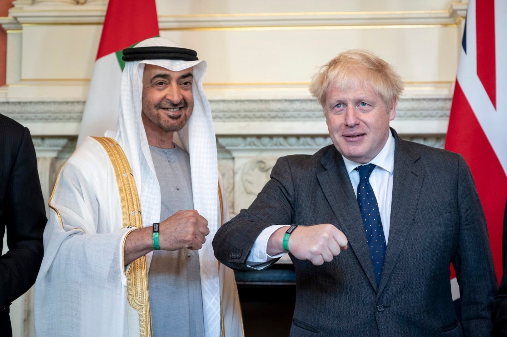 Sheikh Mohamed bin Zayed Al Nahyan, Crown Prince of Abu Dhabi and Deputy Supreme Commander of the UAE Armed Forces, and Boris Johnson, Prime Minister of the United Kingdom (UK), have discussed the historic friendship ties and joint strategic cooperation between the UAE and the UK and ways to enhance relations in the best interest of the two sides. (Supplied: WAM)