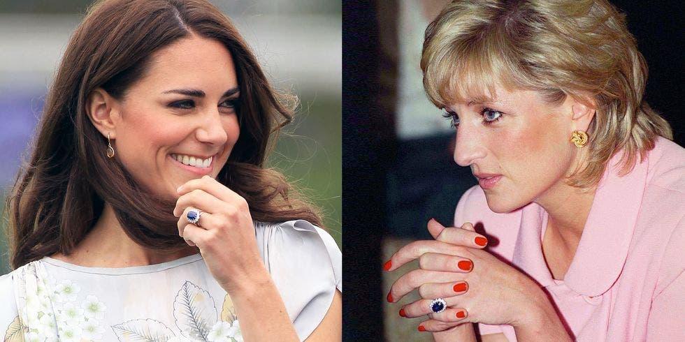 خاتم زفاف كيت الذي ورثته عن حماتها الأميرة دياانا