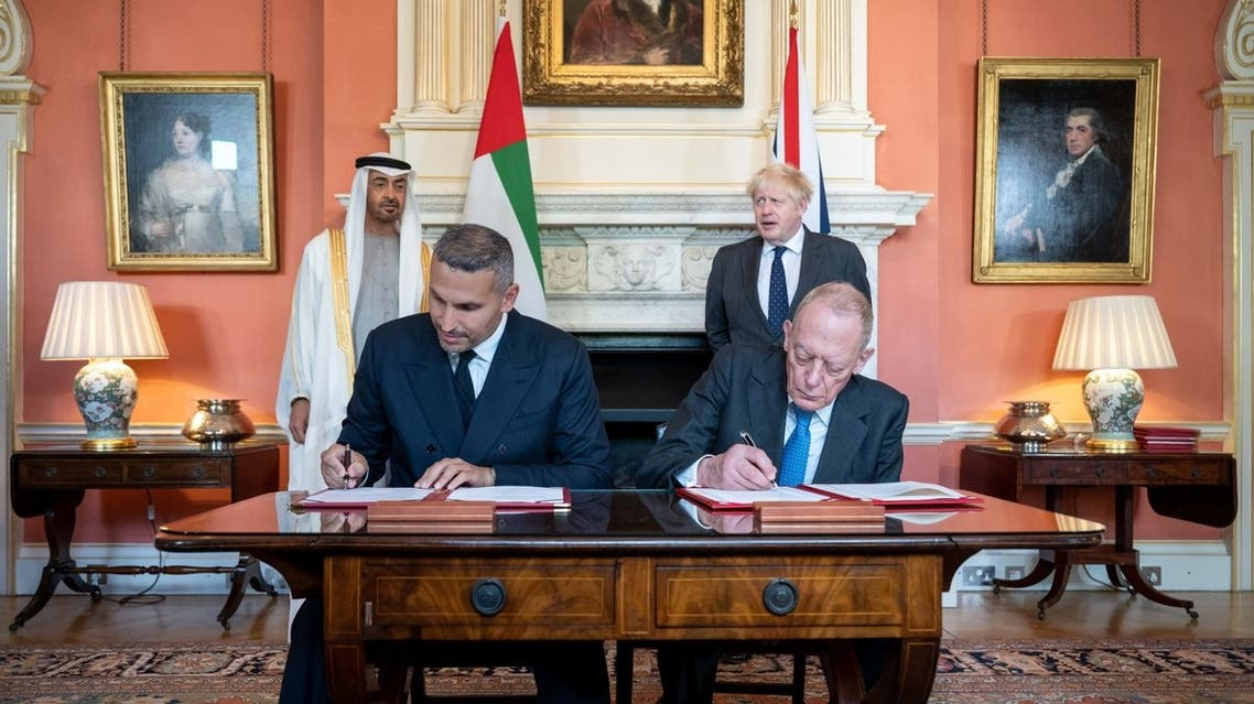 Mubadala, the Abu Dhabi sovereign wealth fund, and the UK Office for Investment (OfI), signed an agreement at Downing Street to significantly expand the UAE-UK Sovereign Investment Partnership (UAE-UK SIP), a framework for investment announced in March 2021. (Supplied: WAM)