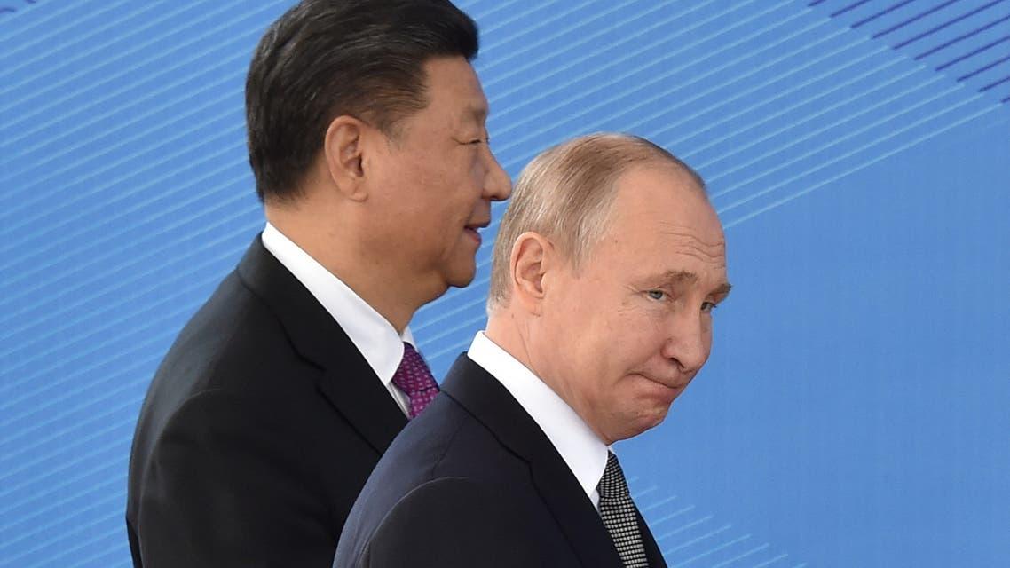 الرئيسان الصيني شي جين بينغ والروسي فلاديمير بوتين (أرشيفية - فرانس برس)