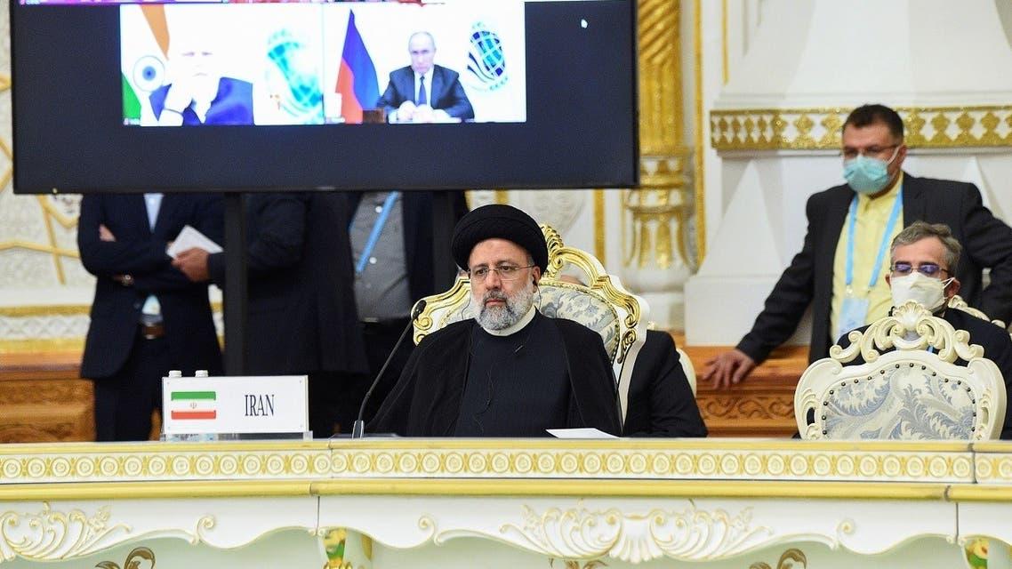 Iranian President Ebrahim Raisi attends the Shanghai Cooperation Organization (SCO) summit in Dushanbe, Tajikistan September 17, 2021. (Reuters/Didor Sadulloev)