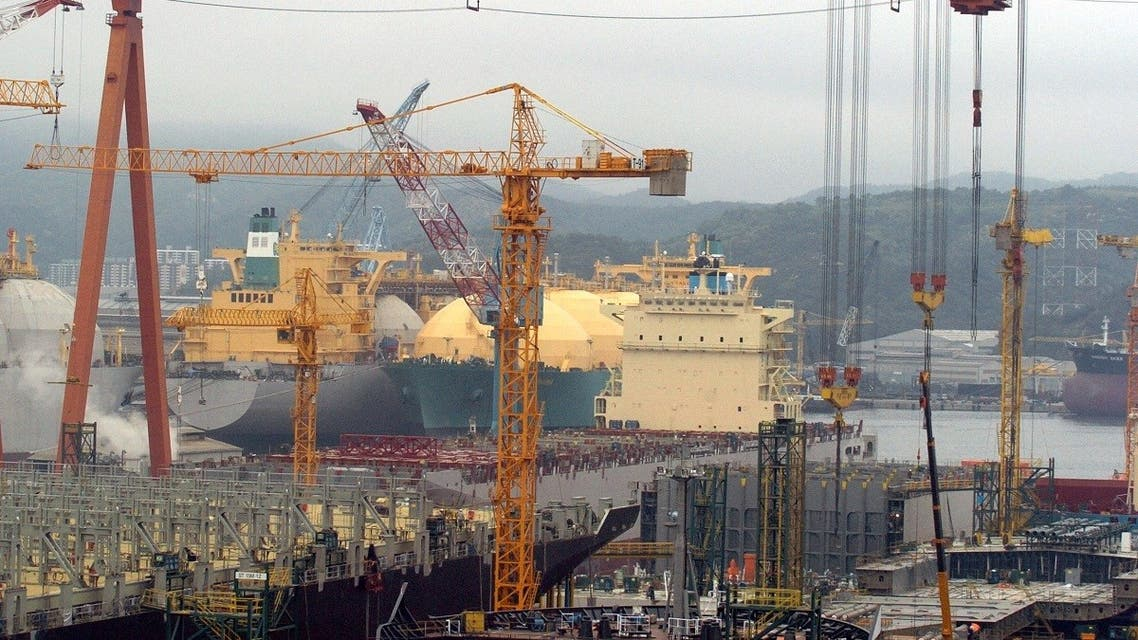 A file picture taken on May 6, 2005 shows a view of Hyundai Heavy Industries shipyard in Ulsan. (AFP)