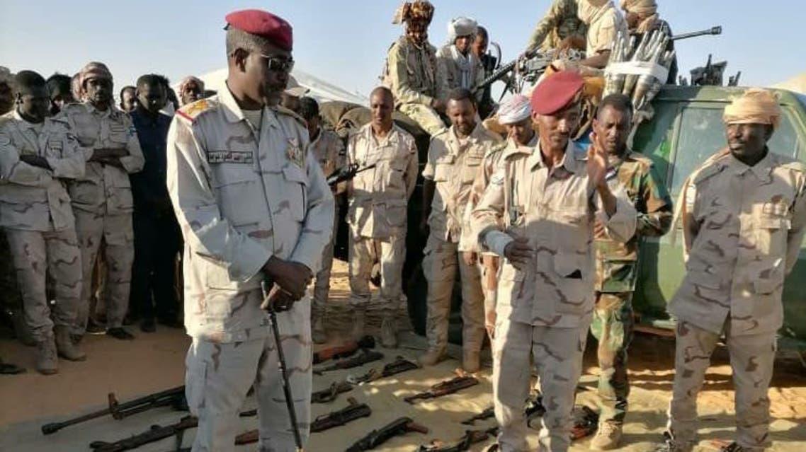 قوات الدعم السريع في السودان تضبط أسلحة