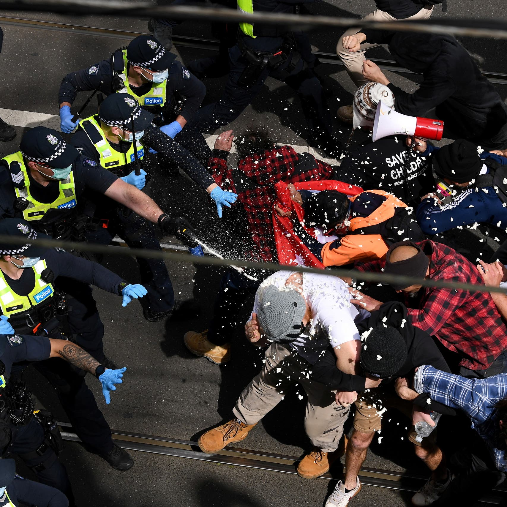 Australian police clashes with anti-lockdown protesters lead to arrest of nearly 270
