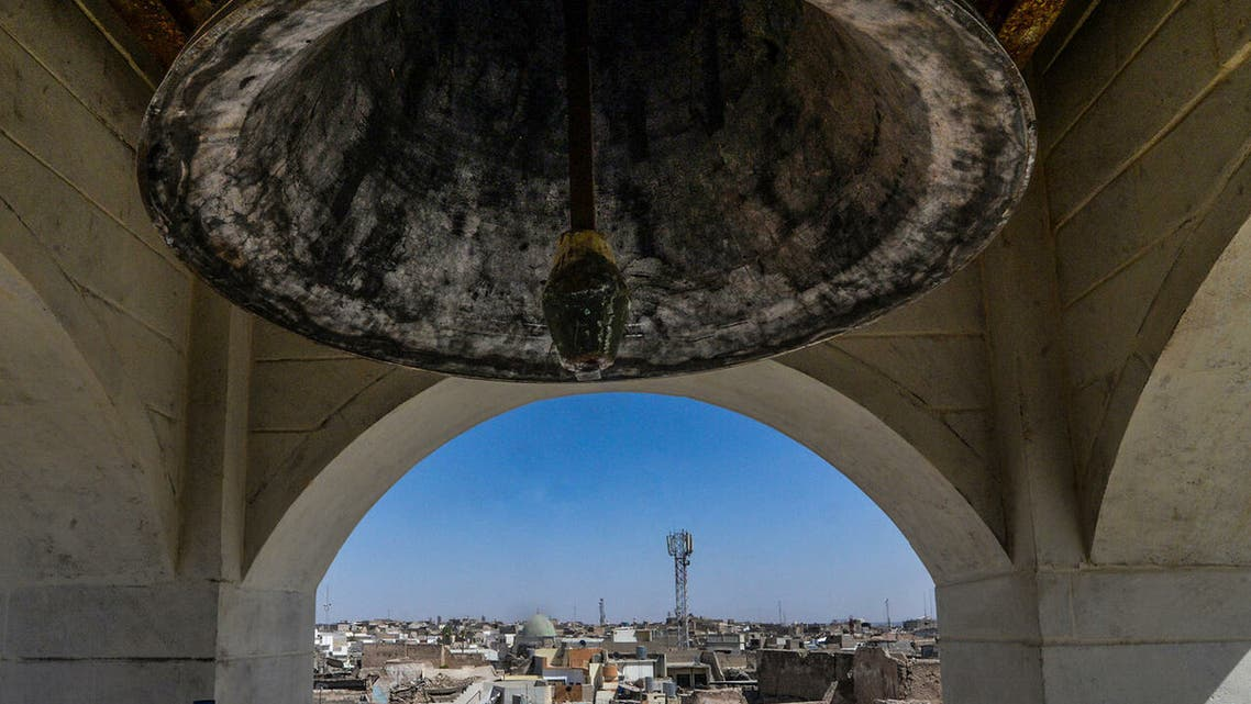 The bell of Mar Tuma in Mosul, Iraq. (File photo: AFP)