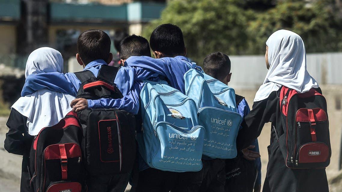 طلاب مدارس في كابل (أرشيفية- فرانس برس)