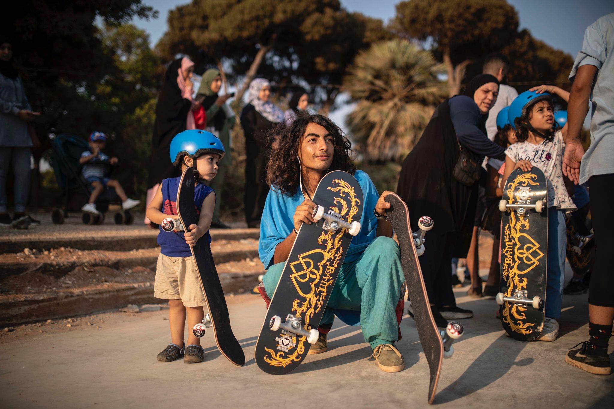 Children taking part in classes at Lebanon's new skatepark. (Image: Make Life Skate Life)