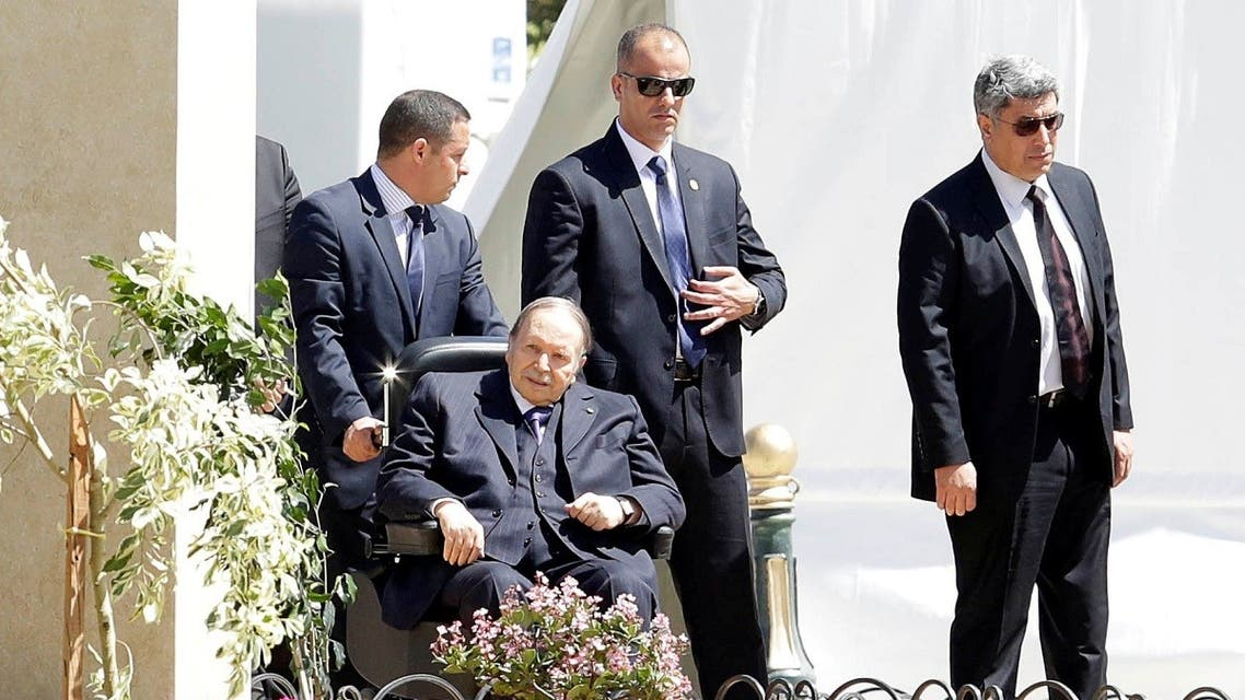 Former Algerian President Abdelaziz Bouteflika is seen in Algiers, April 9, 2018. (Reuters)