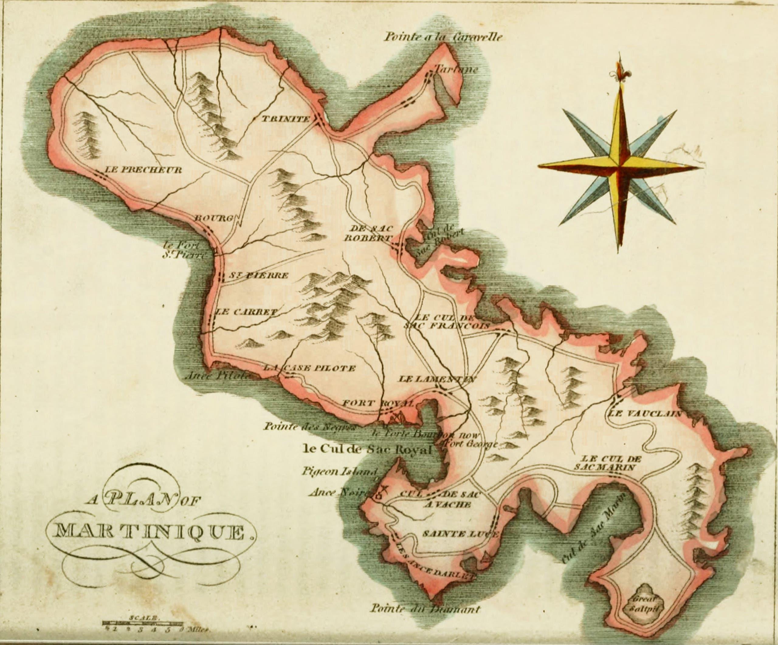 خريطة قديمة لجزيرة مارتينيك