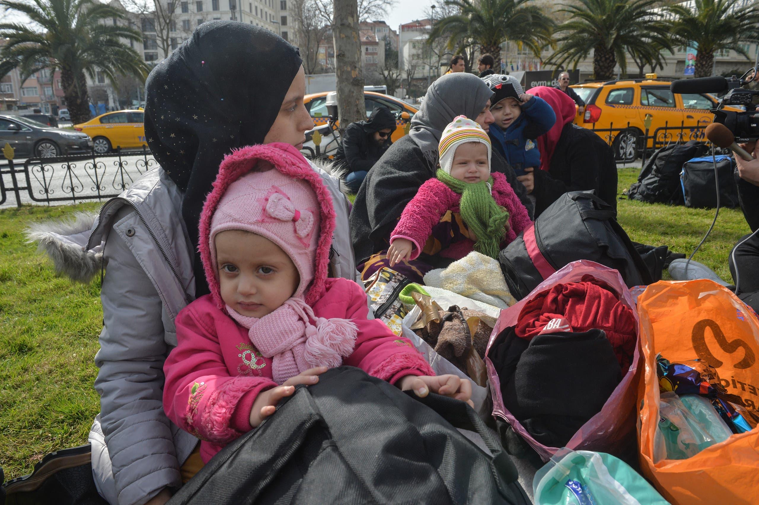 لاجئون سوريون في تركيا (أرشيفية- فرانس برس)