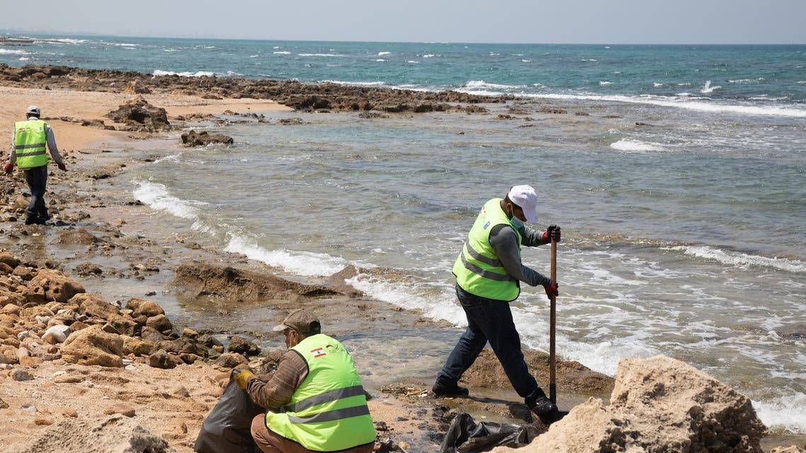 The southern coast of Lebanon found themselves flooded with toxic tar and other contaminants, washed ashore following an accident involving an oil tanker. (Image: Robert McKelvey)