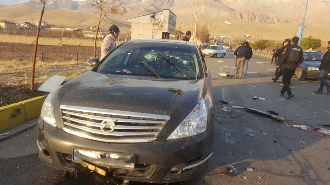 A view shows the scene of the attack that killed Prominent Iranian scientist Mohsen Fakhrizadeh, outside Tehran, Iran, November 27, 2020. (WANA (West Asia News Agency) via Reuters)