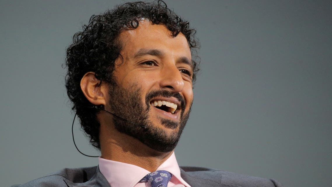 Abdulla Bin Touq Al Marri, Minister of Economy of the United Arab Emirates, (UAE) speaks during the Skybridge Capital SALT New York 2021 conference in New York City, U.S., September 15, 2021. (Reuters)