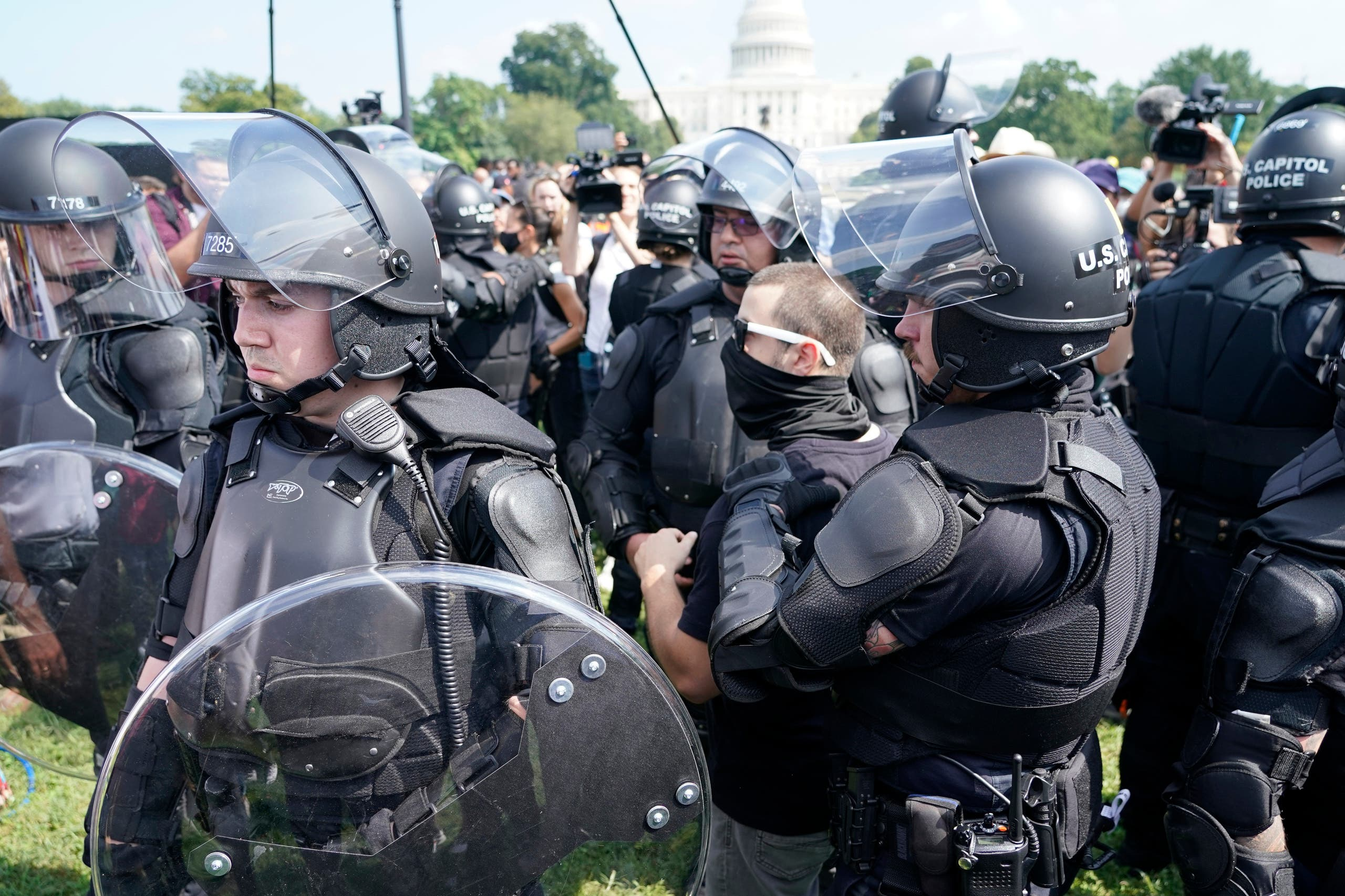 تدابير أمنية تواكب مظاهرة أمام الكونغرس