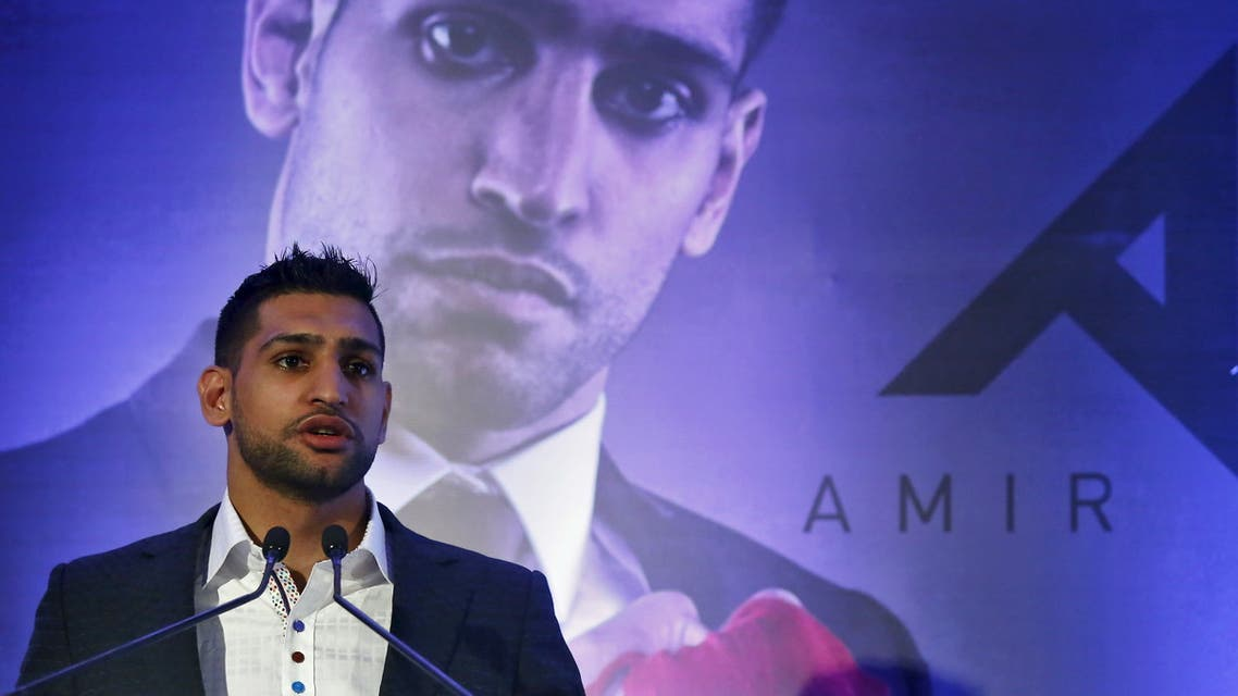 British boxer Amir Khan speaks during a news conference in New Delhi, India, November 3, 2015. (File photo: Reuters)