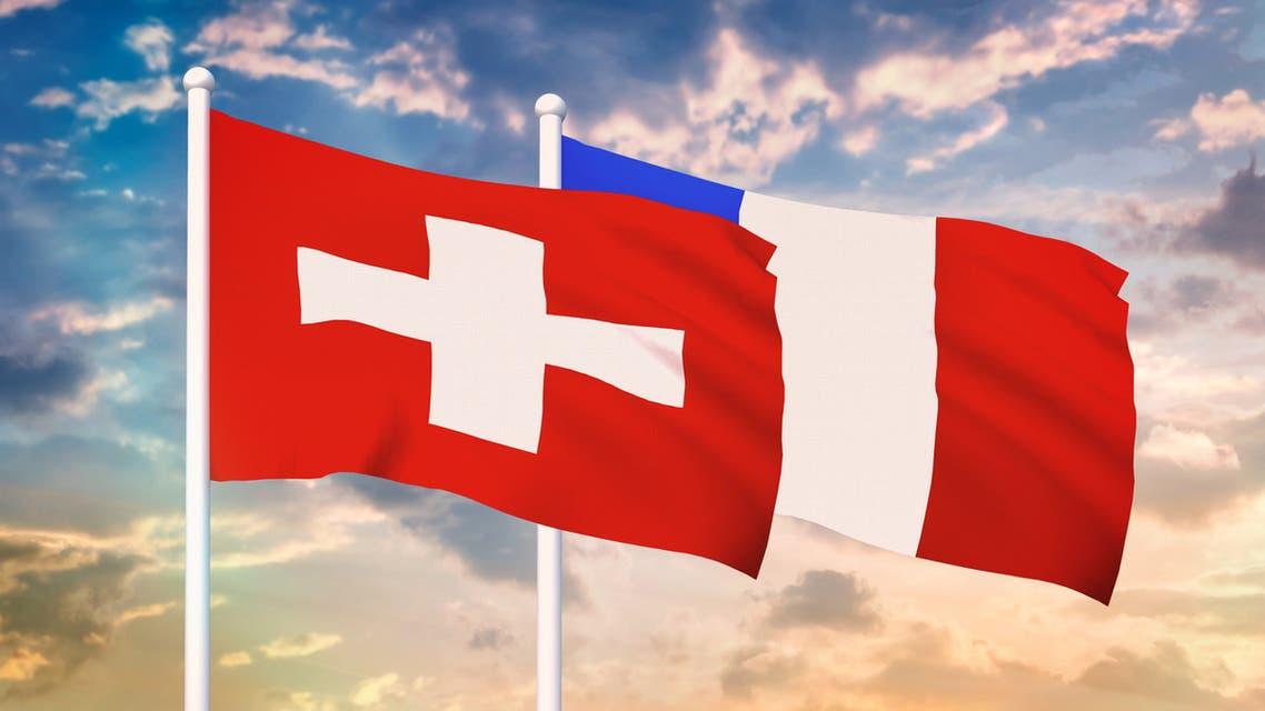 أعلام سويسرا فرنسا 2