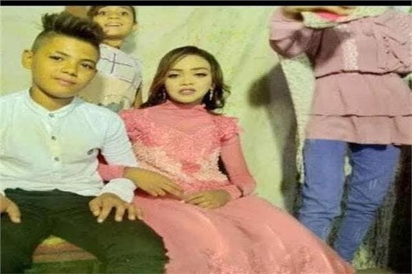 12-year old boy and 11-year old girl engagement in Egypt. (Twitter)