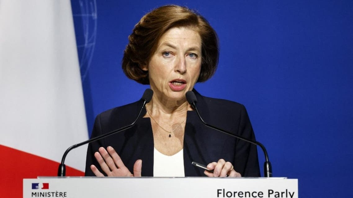 French Defence minister Florence Parly gives a press conference, on September 16, 2021 in Paris. (AFP)