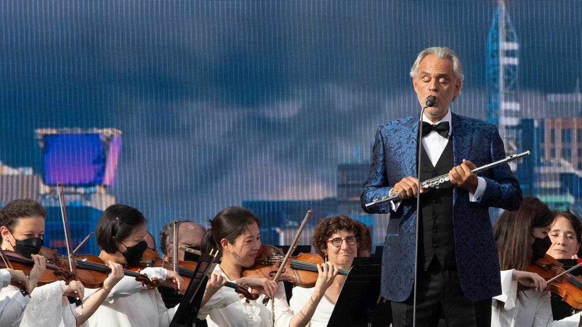 Andrea Bocelli performs during the We Love NYC: The Homecoming Concert in Central Park on August 21, 2021 in New York City. (File photo: AFP)