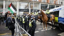 Four charged with 'anti-semitic abuse' during pro-Palestinian protest in London
