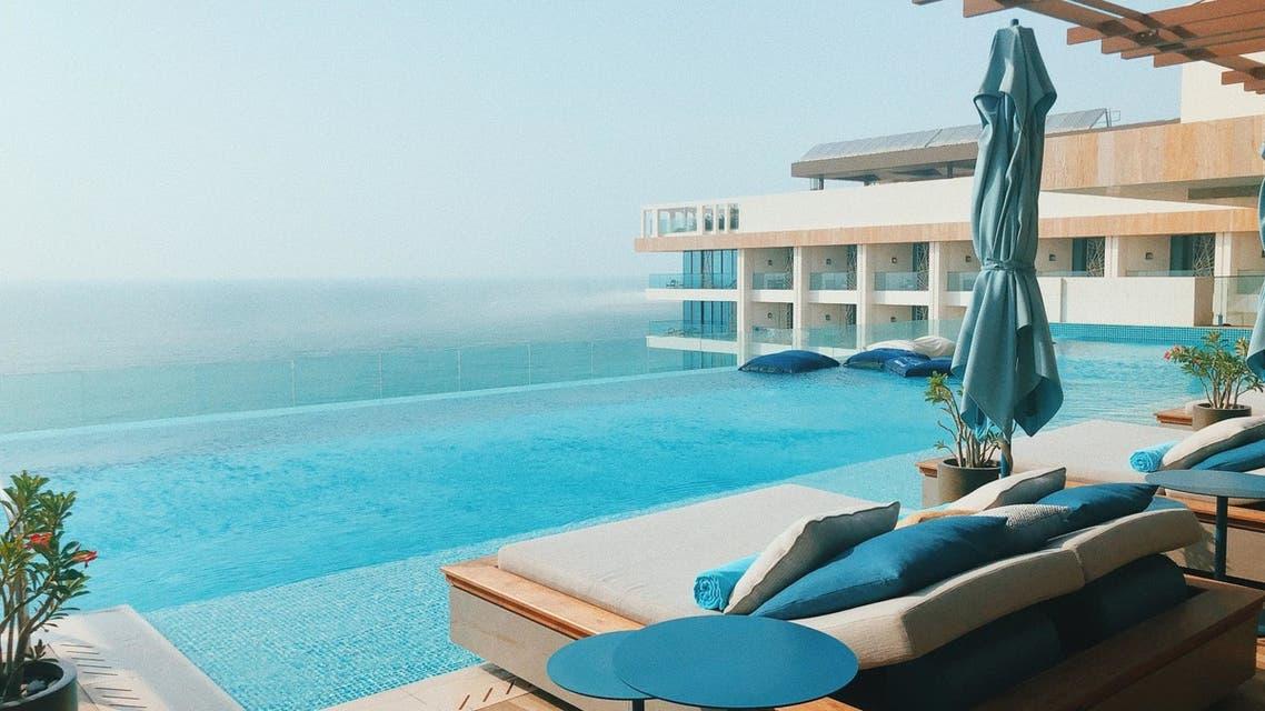 A view from a hotel room at the Mandarin Oriental Hotel in Jumeirah, Dubai, UAE. (Unsplash, Yuliya Pankevich)