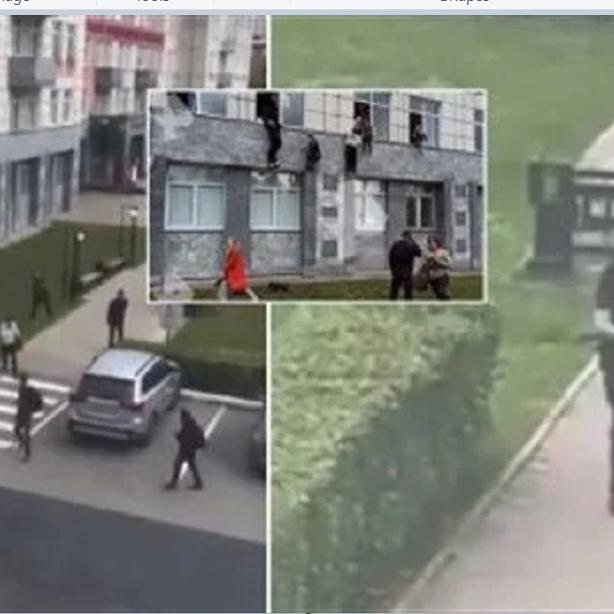 شاهد إطلاق النار بجامعة روسية والطلاب يقفزون من النوافذ