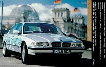 It was BMW that first thought to free the industry from the tyranny of oil dependence, with the introduction of the first hydrogen-powered clean-energy car at Hanover's Expo. (File photo)