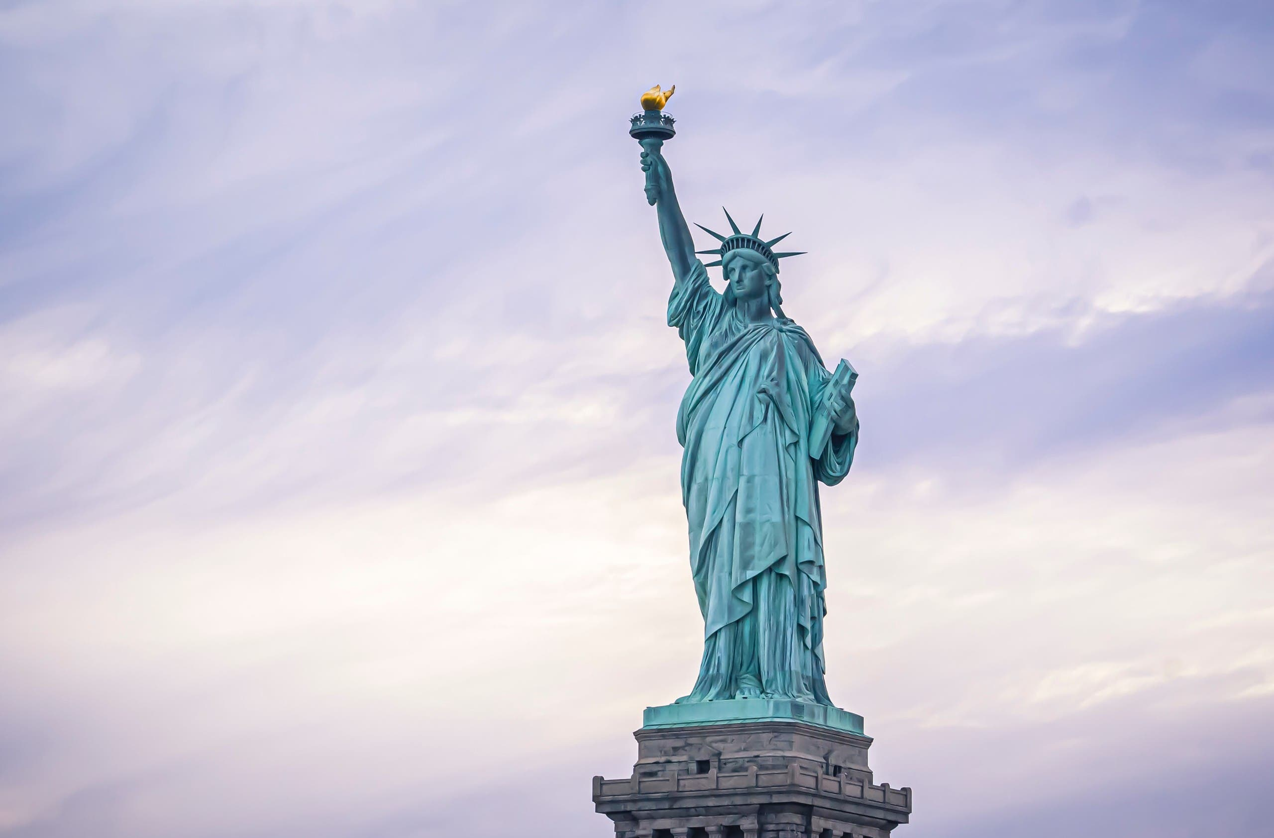 The Statue of Liberty has stood on Liberty Island in New York Harbor as a universal symbol of freedom since 1886. (Unsplash)