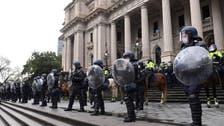 Melbourne police pepper spray, fire pellets at anti-lockdown protestors