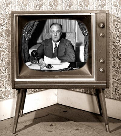 Franklin D. Roosevelt became the first US president to be broadcast on live TV at the New York World's Fair (File photo)