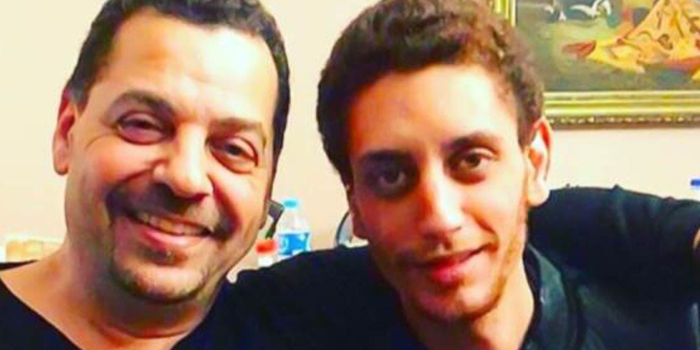 عمر العريان مع والده