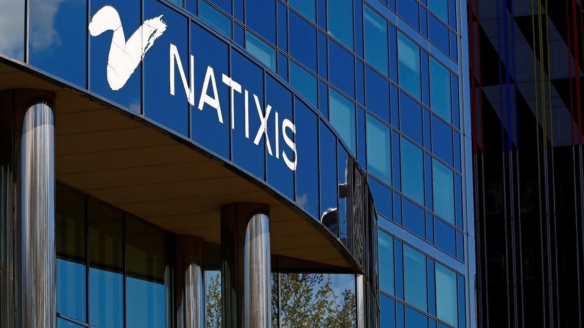 The logo of French bank Natixis is seen at one of their office in Paris, France, April 7, 2021. (Reuters)