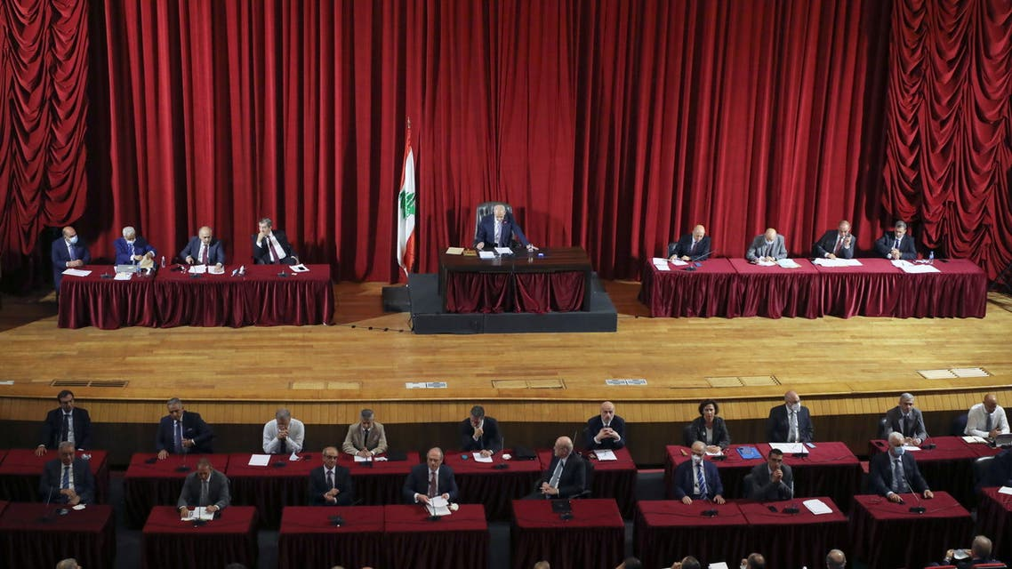 Lebanese Parliament Speaker Nabih Berri heads a parliamentary session, to discuss the new cabinet's policy program and hold a vote of confidence at UNESCO palace in Beirut, Lebanon September 20, 2021. (File photo: Reuters)