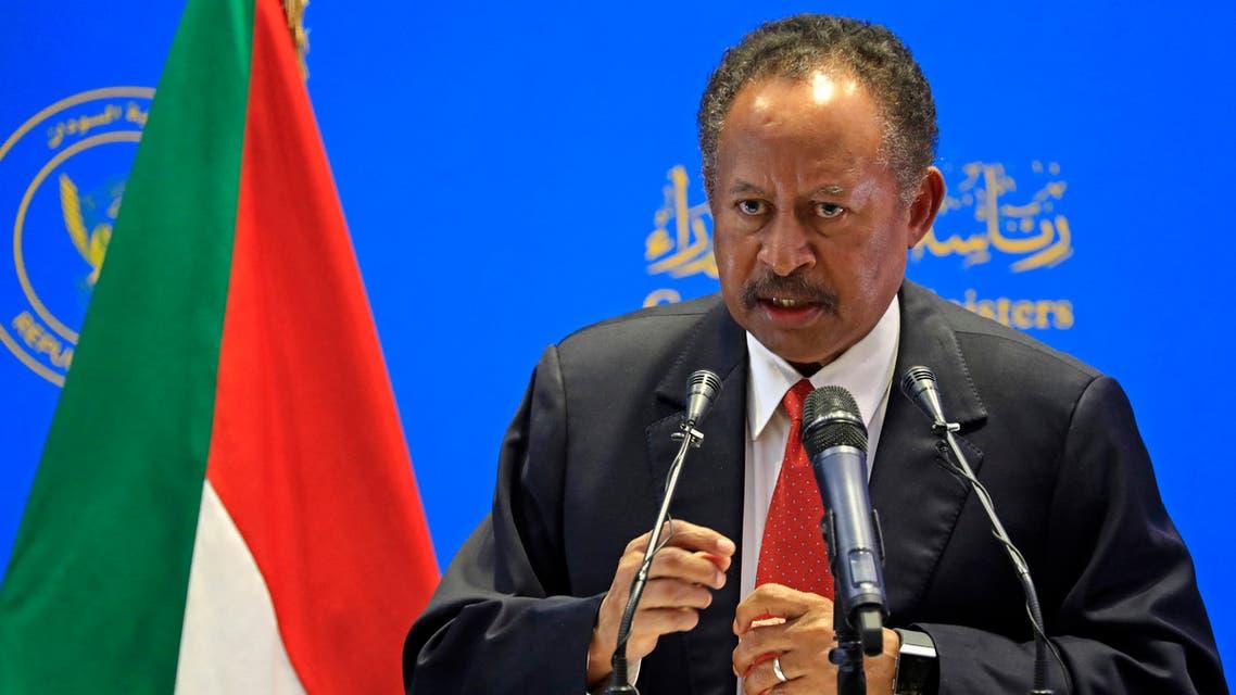 رئيس الوزراء السوداني عبد الله حمدوك(فرانس برس)