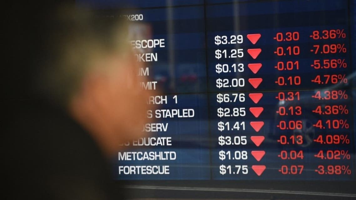 Stocks on the benchmark S&P/ASX200 index show them opening lower in the red at the Australian Stock Exchange in Sydney on July 6, 2015. (File photo: AFP)