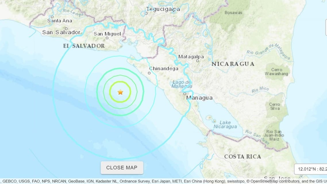 The tremor was felt in the early morning hours in the western Chinandega department, according to reports