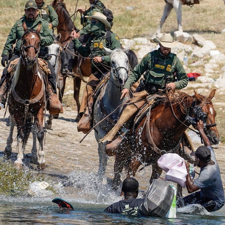 Images of border patrol's treatment of Haitian migrants do not reflect US: Official