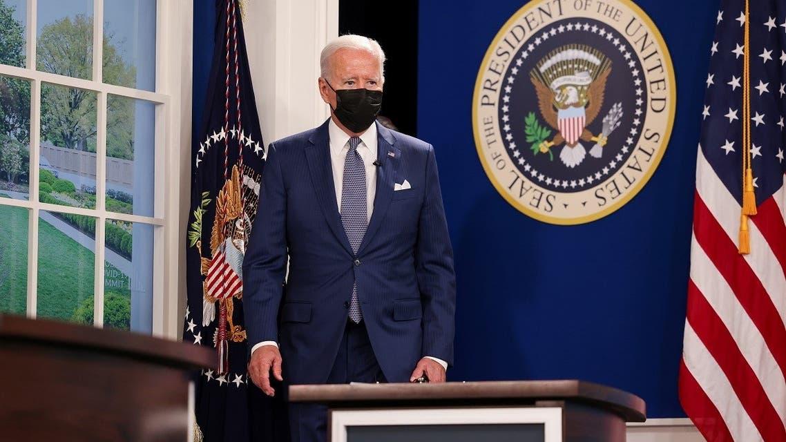 President Joe Biden at a virtual coronavirus disease summit as part of UNGA, Sept. 22, 2021. (Reuters)