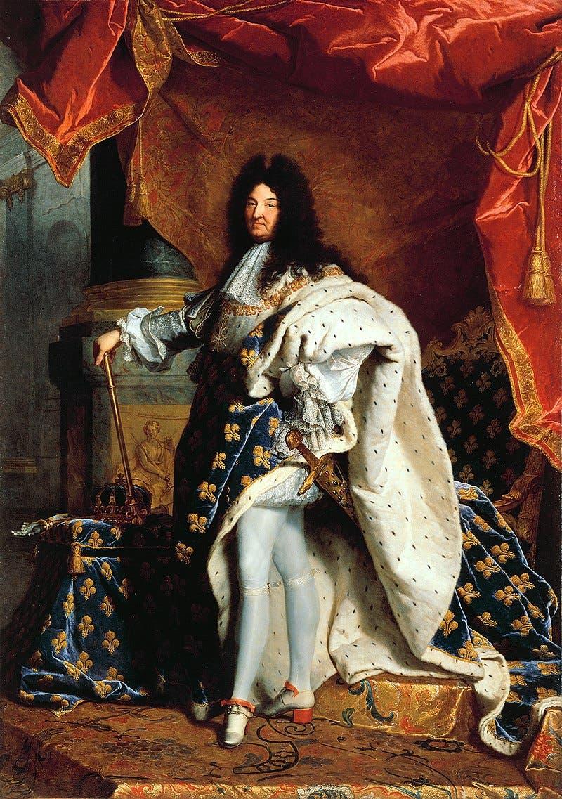لوحة تجسد الملك الفرنسي لويس الرابع عشر