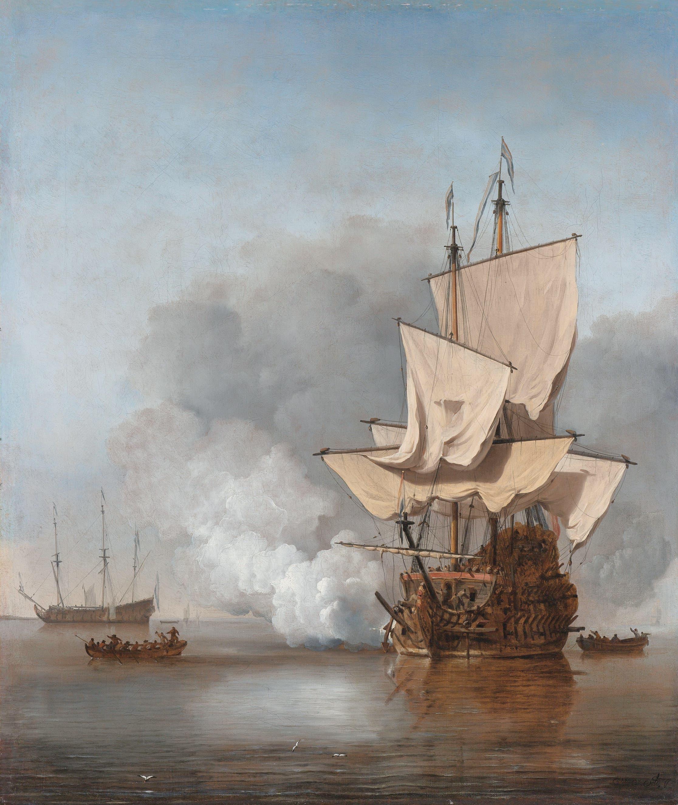 رسم تخيلي لإحدى سفن دوغيه ترووان