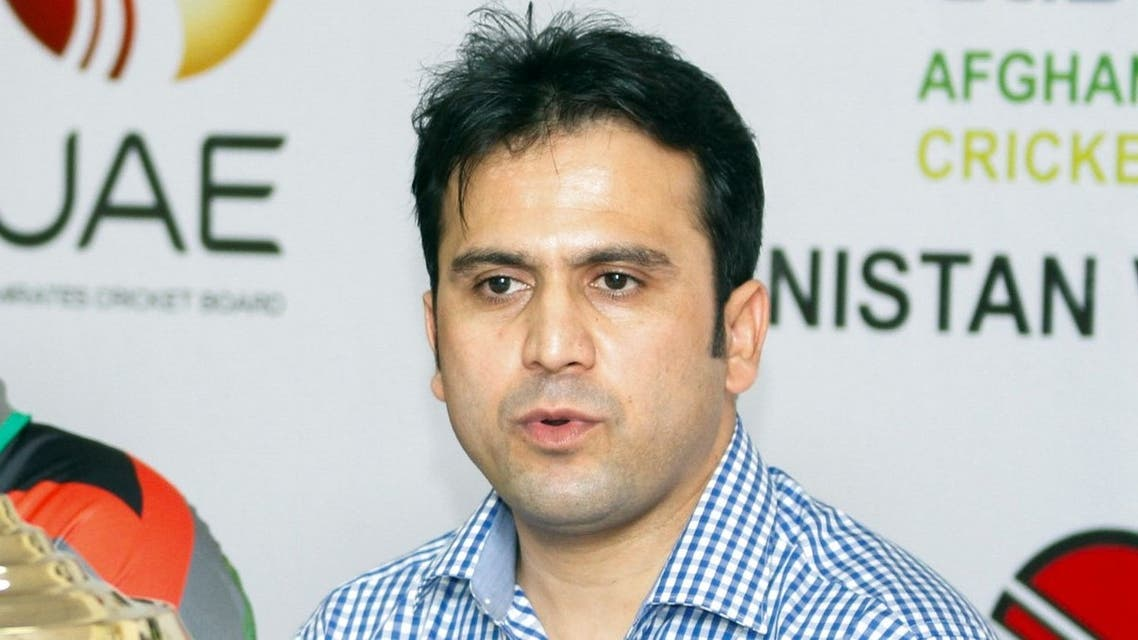 Hamid Shinwari, former CEO of the Afghanistan Cricket Board at a press conference held at the Sharjah Cricket Stadium, in Sharjah, United Arab Emirates, Thursday, Aug. 23, 2012. (AP)