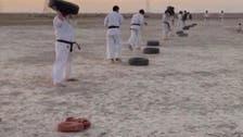 تمرین رزمیکاران لیگ برتر خوزستان در شنزارهای ماهشهر