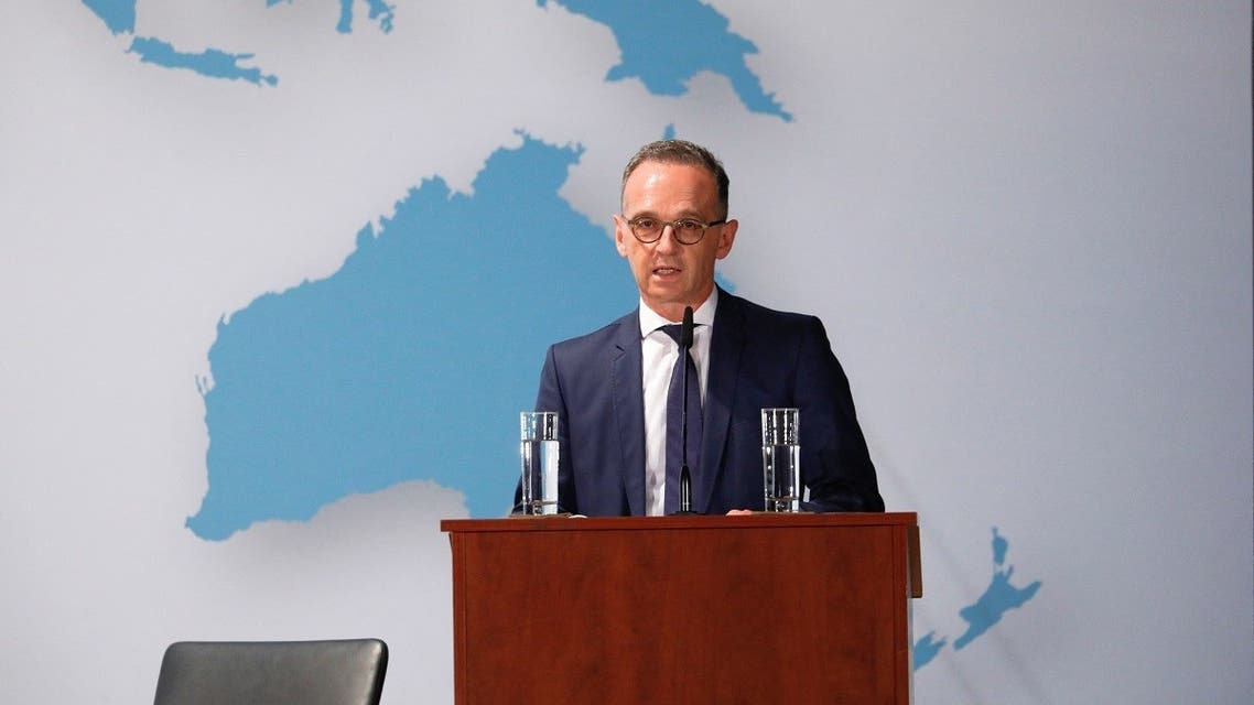 A file photo shows German Foreign Minister Heiko Maas during an event in Berlin, Germany, September 15, 2021. (Michele Tantussi/Pool/AFP)
