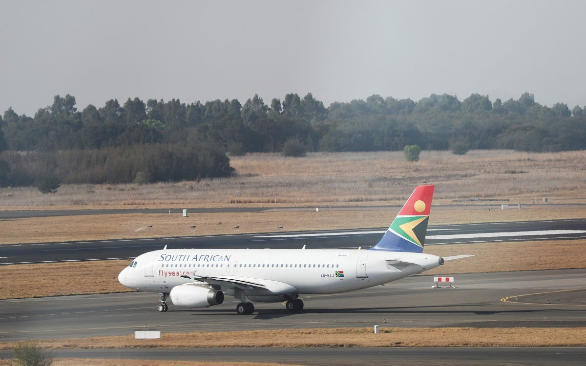 South Africa's national airline, South African Airways (SAA), prepares to take off after a year-long hiatus triggered by it running out of funds, at O.R. Tambo International Airport in Johannesburg, South Africa, on September 23, 2021. (Reuters)